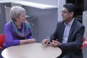 Karin Smyth MP in a meeting with Naz Sarkar, CEO of Computershare UK