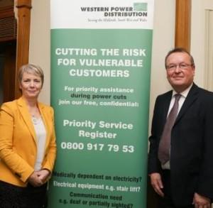 Karin Smyth MP with WPD Chief Executive Robert Symons